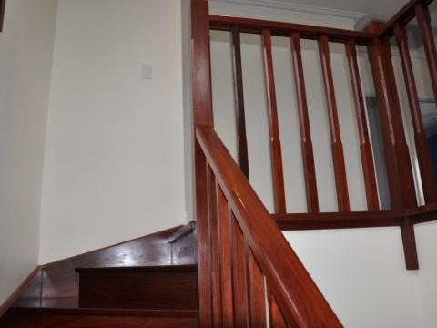 Stair case to upper floor
